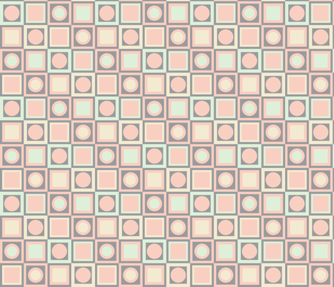 Circles and Squares in 4 Colors fabric by mollywog2 on Spoonflower - custom fabric