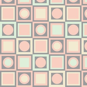 Circles and Squares in 4 Colors
