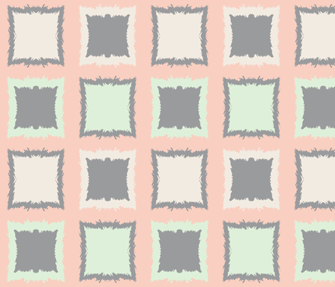 Squares and Frames--Large fabric by mollywog2 on Spoonflower - custom fabric