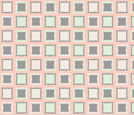 Squares and Frames--Small fabric by mollywog2 on Spoonflower - custom fabric