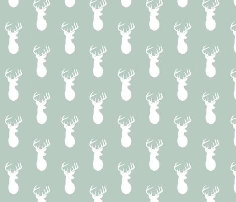 buck head // sage fabric by buckwoodsdesignco on Spoonflower - custom fabric