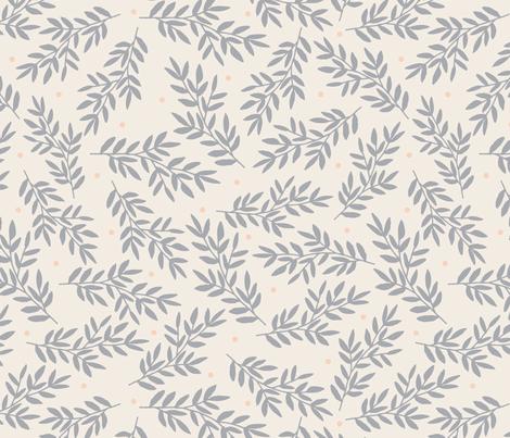 gray leaves  fabric by megan_kline on Spoonflower - custom fabric