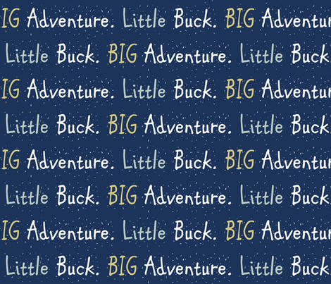little buck big adventure // midnight fabric by buckwoodsdesignco on Spoonflower - custom fabric