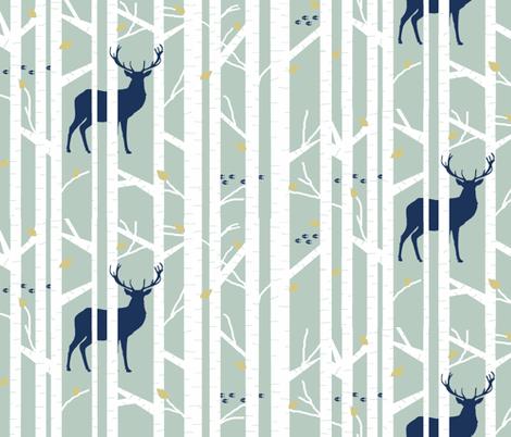 walk in the woods // sage fabric by buckwoodsdesignco on Spoonflower - custom fabric