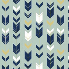 tribal arrows // sage