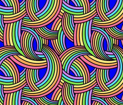 Rainbows fabric by shala on Spoonflower - custom fabric