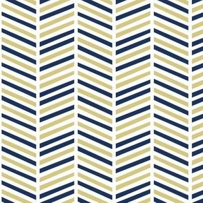 herringbone multi // midnight & gold