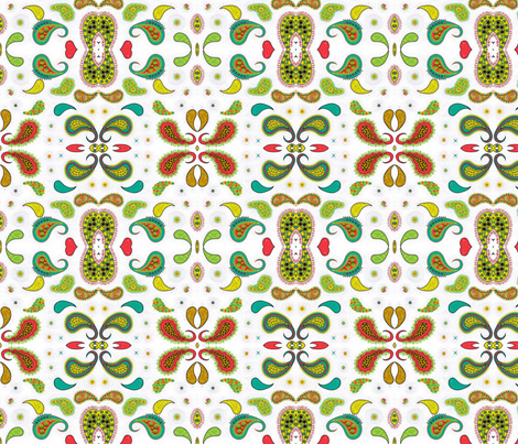 Paisley I, mirrored and Trippy fabric by gargoylesentry on Spoonflower - custom fabric