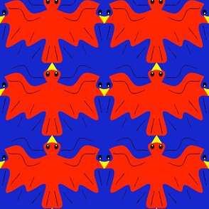 Tessellating Red and Bluebirds