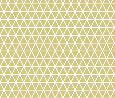 tangled triangles // gold fabric by buckwoodsdesignco on Spoonflower - custom fabric