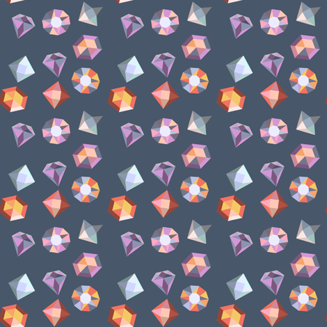 Navy Gems fabric by landpenguin on Spoonflower - custom fabric