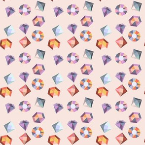 Pink Geometric Gems