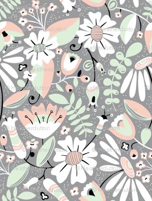Annabelle - Floral Grey
