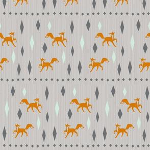 Textured fox diamonds