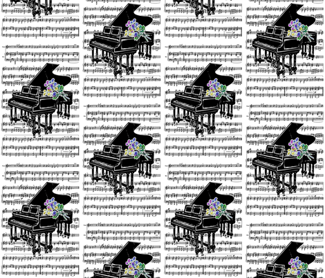 Danita's Bouquet For The Pianist fabric by midcoast_miscellany on Spoonflower - custom fabric