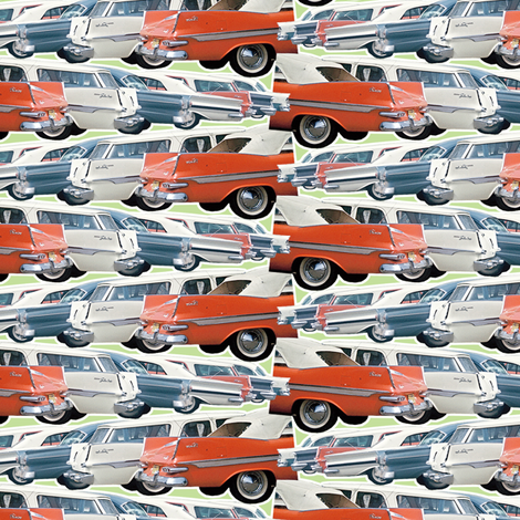 Dean's Parking Lot ~ Circa 1960 fabric by midcoast_miscellany on Spoonflower - custom fabric