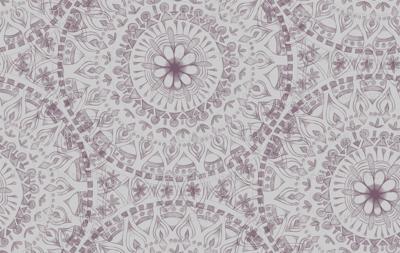 Plum Hand Drawn Mandala