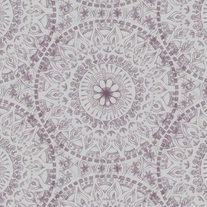 Plum Hand Drawn Mandala