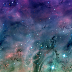 Rainbow Galaxy Sized for Wallpaper