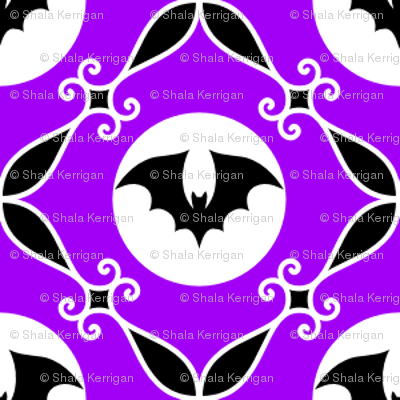 Bats on purple- small