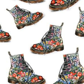 Awesome Floral Boots