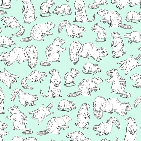 Gnawers_pattern_white_on_mint_shop_preview