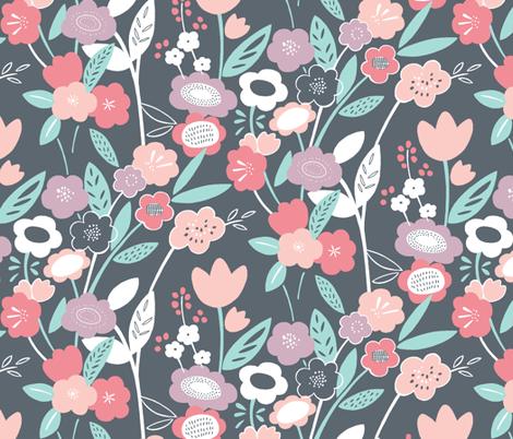 Wonderland Floral (Rose Quartz) fabric by leanne on Spoonflower - custom fabric