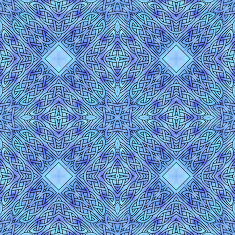 celtic diamonds fabric by janbalaya on Spoonflower - custom fabric