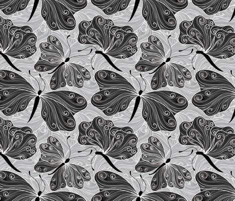 black tie butterflies fabric by vo_aka_virginiao on Spoonflower - custom fabric