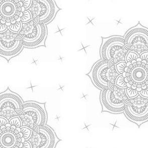 Mandala black & white indi-ed