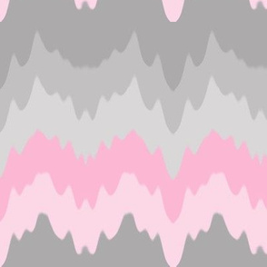 Pink Grey Gray Ombre Chevron Camouflage