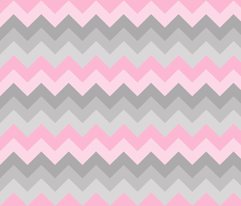 Pink Grey Gray Ombre Chevron LARGE  fabric by decamp_studios on Spoonflower - custom fabric