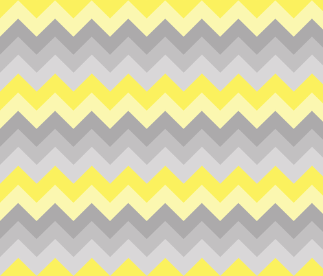 Yellow Grey Gray Ombre Chevron LARGER SIZE fabric - decamp ...