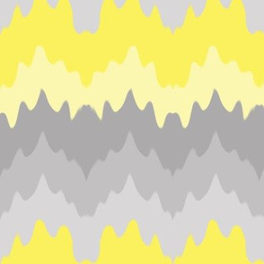 Yellow Grey Gray Ombre Chevron Camouflage