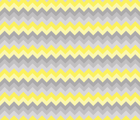 Yelow Grey Gray Ombre Chevron SMALLER SIZE fabric by decamp_studios on Spoonflower - custom fabric