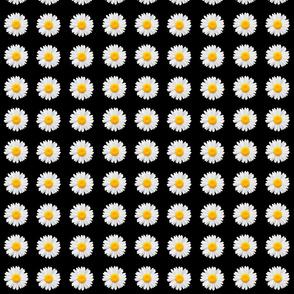 90's black daisy fabric