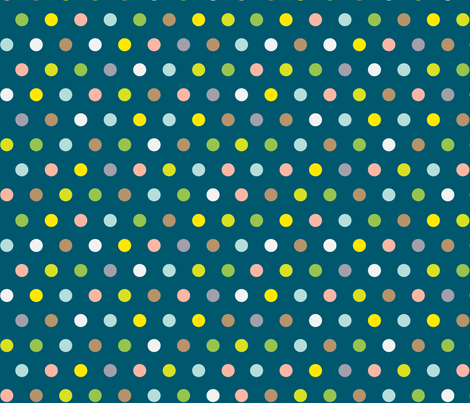 Spots on DarkTeal fabric by pinky_wittingslow on Spoonflower - custom fabric