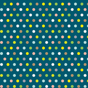 Spots on DarkTeal