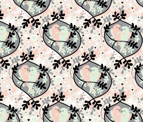 Little Lovebirds fabric by micklyn on Spoonflower - custom fabric