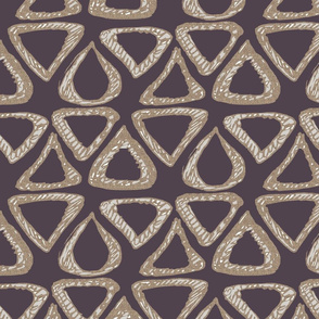 Triangle Doodle on mauve