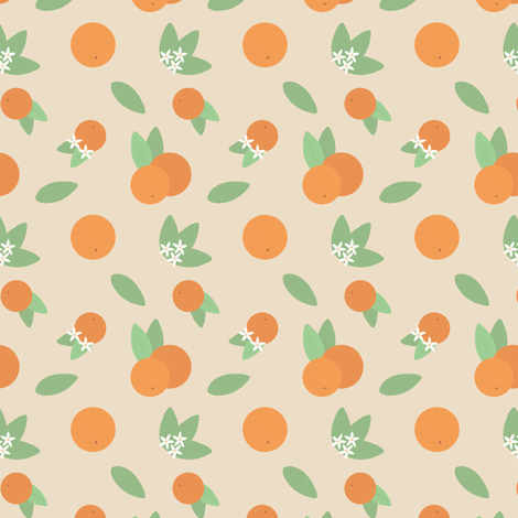 Small Vintage Florida Oranges fabric by jackelope on Spoonflower - custom fabric