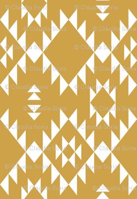 Navajo - Gold White (vertical)