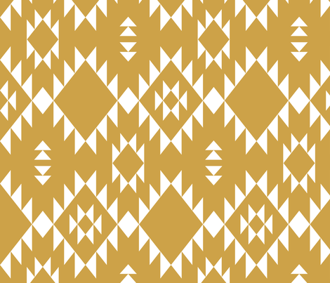 Navajo - Gold White (vertical) fabric by kimsa on Spoonflower - custom fabric
