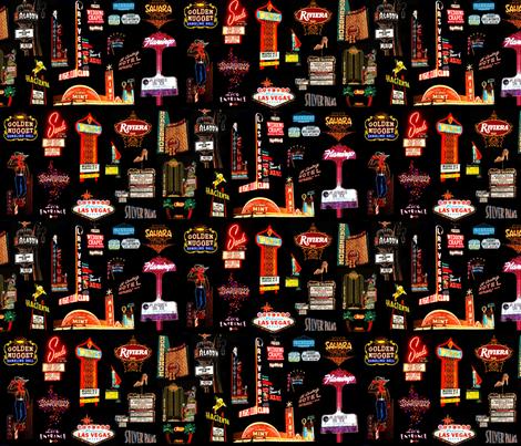 Viva Las Vegas fabric by hollywood_royalty on Spoonflower - custom fabric