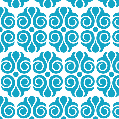 Tailspin Blue and White  fabric by the_design_house on Spoonflower - custom fabric