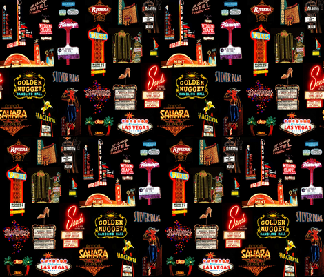 Viva Las Vegas 2 fabric by hollywood_royalty on Spoonflower - custom fabric