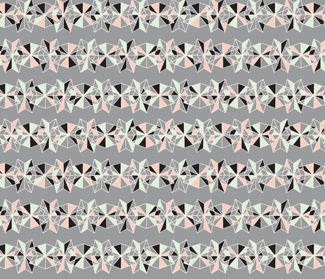 geometric lace limited palette fabric by rikkandesigns on Spoonflower - custom fabric