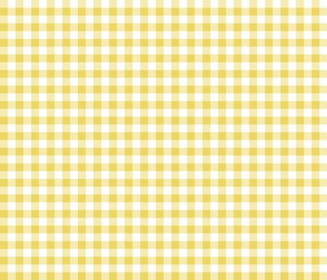 Mini Gingham Yellow fabric by littlerhodydesign on Spoonflower - custom fabric