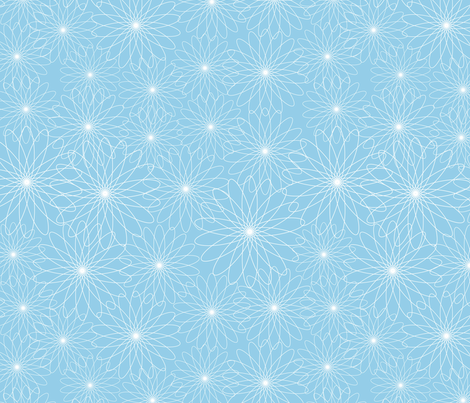 Spirograph Flowers Blue fabric by snowflower on Spoonflower - custom fabric