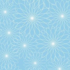 Spirograph Flowers Blue
